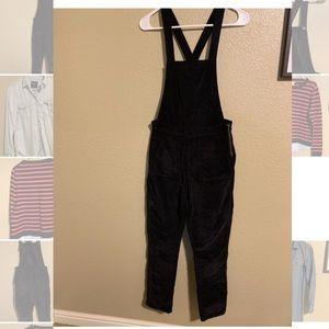 Madewell velvet overalls